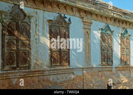 Old Uighur house in the old quarter, Yining (Ghulja), Xinjiang Province, China - Stock Image