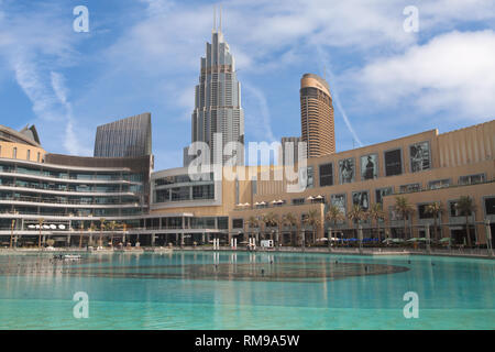 Dubai, United Arab Emirates - September 9, 2018: The Dubai Mall in Dubai, United Arab Emirates, is the second largest mall in the world by total land  - Stock Image