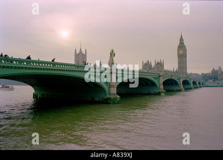 Westminster Bridge London - Stock Image