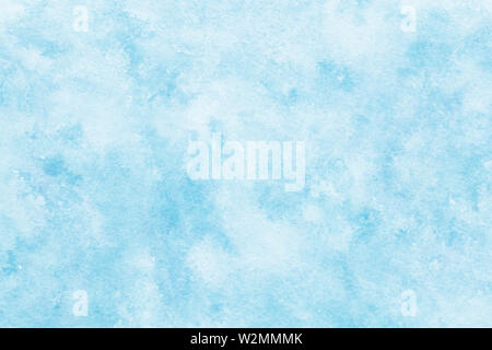 Hand painted watercolor blue sky and cloud abstract or natural vintage background - Stock Image