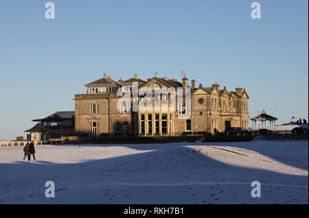 Royal and Ancient Clubhouse St Andrews fife Scotland   February 2019 - Stock Image