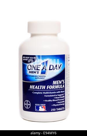 Bayer One A Day Men's Health Formula Multi-Vitamin - Stock Image