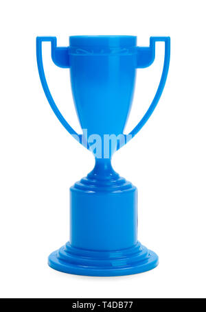 Kids Toy Trophy Isolated on White Background. - Stock Image
