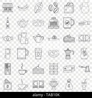Jar icons set, outline style - Stock Image