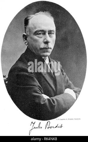 JULES BORDET (1870-1961) Belgian physician,immunologist and microbiologist in 1919 after winning a Nobel Prize - Stock Image