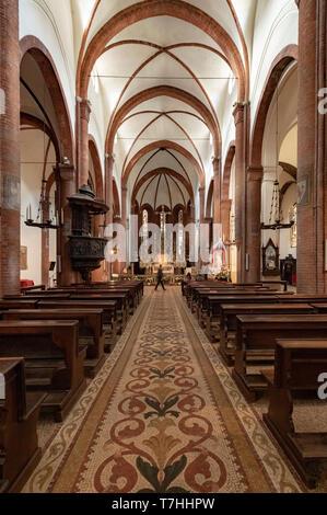 Italy Piedmnt Turin Church of San Domenico - nave - Stock Image