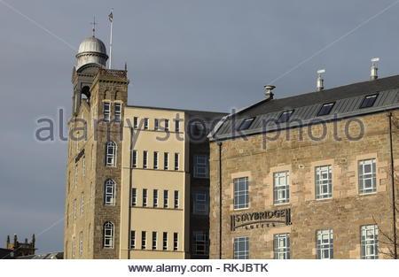 Exterior of Hotel Indigo and Staybridge Suites Dundee Scotland  January 2019 - Stock Image