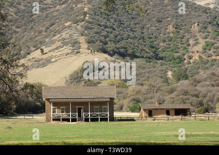 Fort Tejon, protecting the San Joaquin Valley, near Lebec, California. Digital photograph - Stock Image