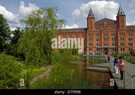 Germany, Niedersachsen, Celle, neues Rathaus, ehemalige Infanteriekaserne von 1872 - Stock Image