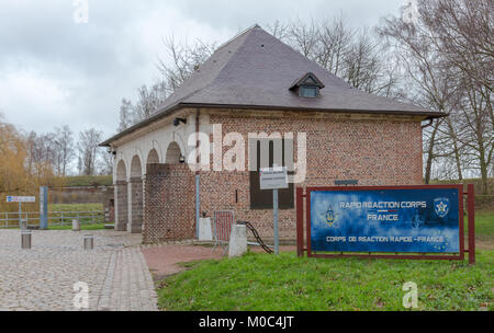 Entrance to the headquarters of the NATO Rapid Reaction Corps at the citadel of Lille, France - Stock Image