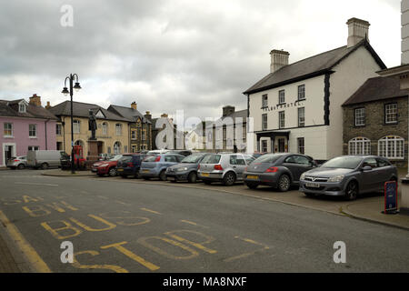Tregaron and the Talbot Hotel - Stock Image