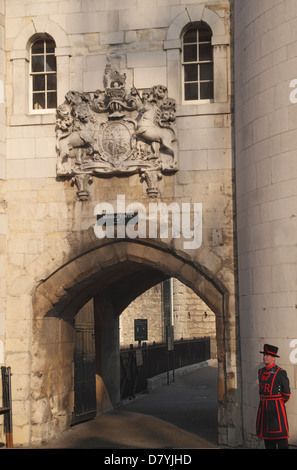Middle Tower of the Tower of London - Stock Image