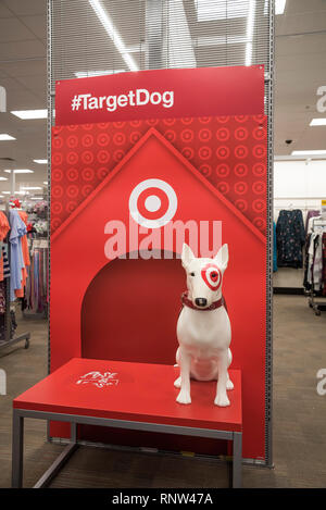 Posing station for Target Dog pictures inside store in North Florida. - Stock Image