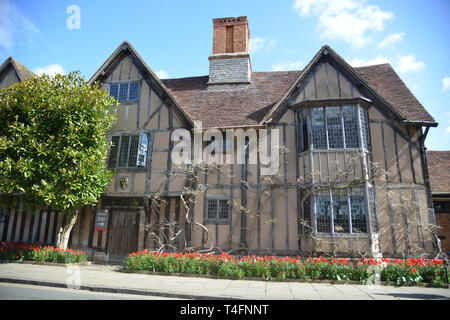 Halls Croft, Old Town, Stratford upon Avon, Warwickshire, the home of John Hall and his wife Susanna, daughter of William Shakespeare - Stock Image