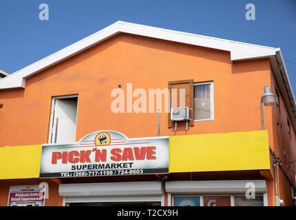 Pick'n Save supermarket in Saint John's, Capital of Antigua and Barbuda - Stock Image