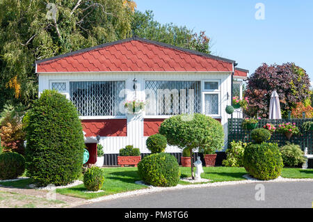 Abbeyfields retirement home and garden, Thames Side, Chertsey, Surrey, England, United Kingdom - Stock Image