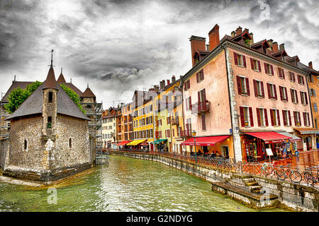 Lac de Annecy in the French Alps - Stock Image