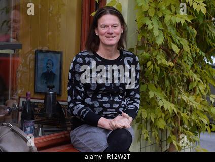 Prague, Czech Republic. 08th Nov, 2018. Actress Hanna Hofmann poses within a presentation of the Touch Me Not film, in Prague, Czech Republic, on November 8, 2018. Credit: Michaela Rihova/CTK Photo/Alamy Live News - Stock Image