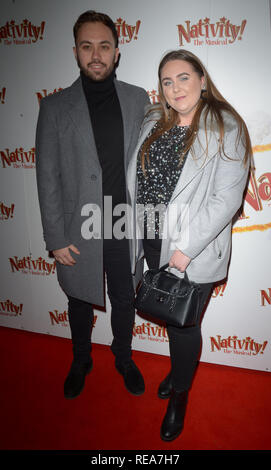 Celebrities attend 'Nativity! The Musical' Press Night held at the Hammersmith Apollo theatre  Featuring: Clair Norris Where: London, United Kingdom When: 20 Dec 2018 Credit: WENN.com - Stock Image
