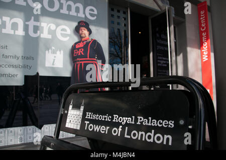 Tower of London ticket office, London, United Kingdom - Stock Image