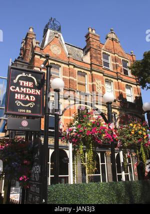The Camden Head Pub Islington London - Stock Image