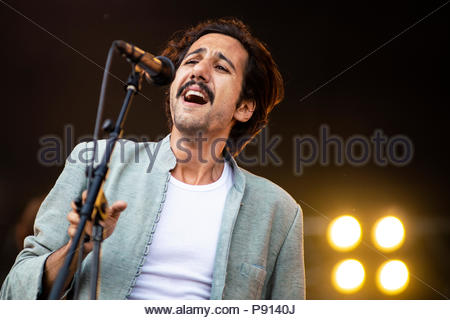 Feu Chatterton performing live at Musilac festival in Aix-les-Bains (France) - 12 July 2018 - Stock Image