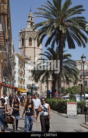Plaza de Reina, Cathedral, Valencia, Spain - Stock Image