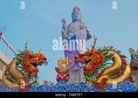 Buddhist Bodhisattvas Guam-im, Surat Thani, Thailand - Stock Image