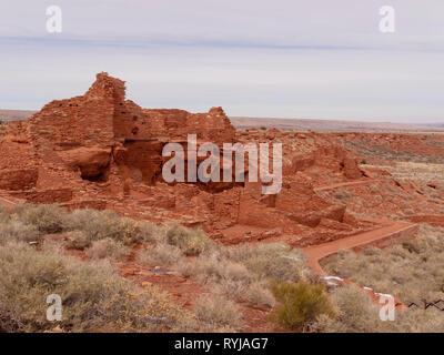 Wupatki Ruin, Wupatki National Monument, Arizona. - Stock Image