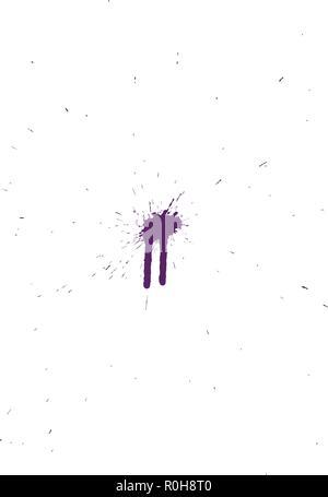 Grunge pattern. Color on white.  Vector illustration. - Stock Image
