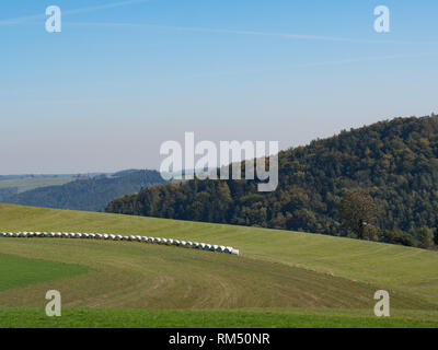 Hilly landscape day - Stock Image