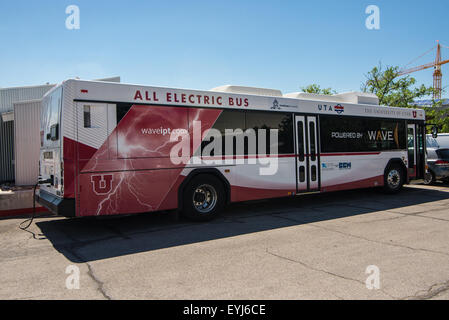 All Electric Bus, University of Utah, Salt Lake City - Stock Image