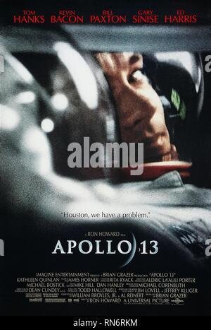 APOLLO 13, TOM HANKS MOVIE POSTER, 1995 - Stock Image