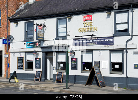 The Griffin pub, Market Weighton, East Yorkshire, England UK - Stock Image