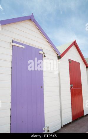 Beach Huts, Torbay - the English Riviera, Devon, UK. - Stock Image
