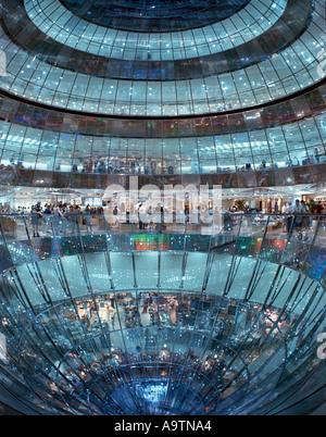 Berlin Galery Lafayette glas dome luxery warehouse in Friedrichstrasse Berlin center - Stock Image
