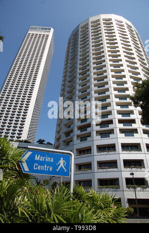 Singapore financial district, Central Business District - Stock Image