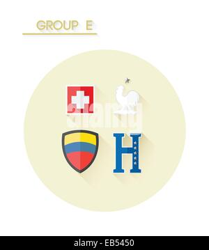 Group e with country crests - Stock Image