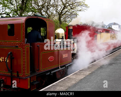 RS 8051  Isle of Man Steam Railway, Port Erin Station, Isle of Man, UK - Stock Image