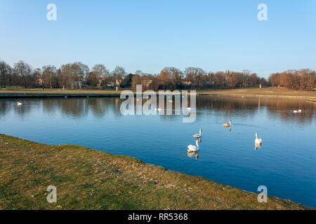 Lake at Chateau de Chantilly, Oise, France - Stock Image