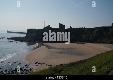A view of King Edwards Bay near Tynemouth, which is one of 71 beaches that have been awarded a Blue Flag award by Keep Britain Tidy. - Stock Image