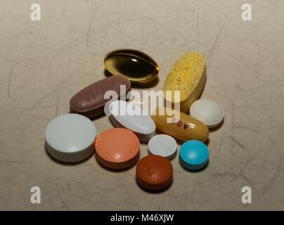 Pill medication - Stock Image