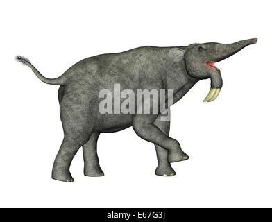 Dinosaurier Deinotherium / dinosaur Deinotherium - Stock Image