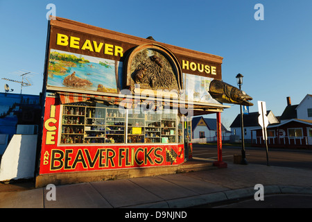 Beaver House shop, Grand Marais, Minnesota. - Stock Image