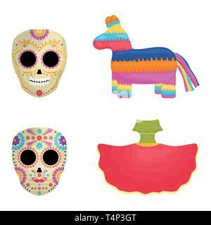 cinco de mayo celebration set icons vector illustration design - Stock Image
