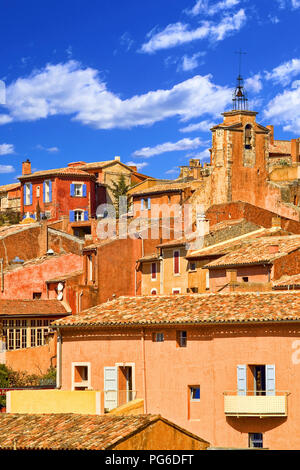 The village of Roussillon - Stock Image