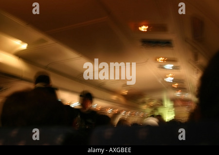 The bumpiness of a flight during turbulence. - Stock Image