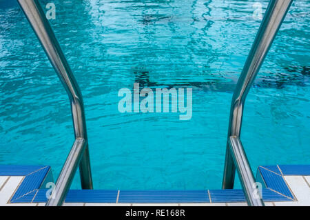 swimming pool ladder - Stock Image