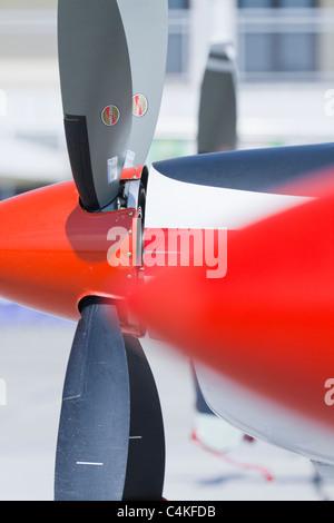 Aircraft propeller detail - Stock Image