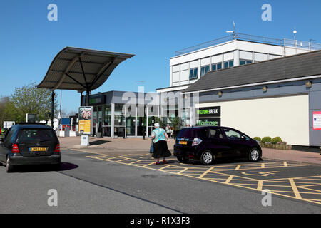 The northbound side of Charnock Richard service station on the M6 in Lancashire, England - Stock Image